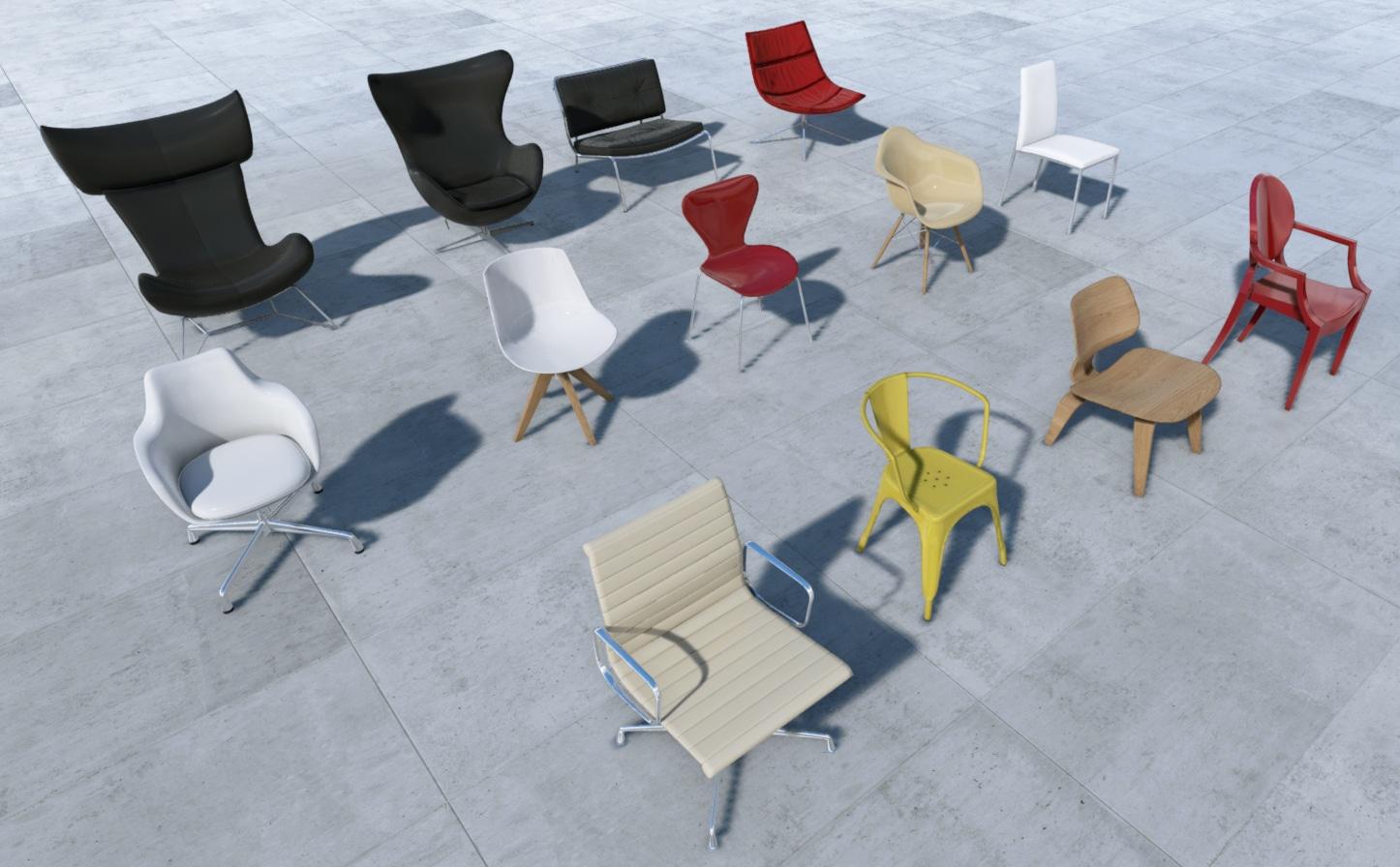 UE4Models Chairs Pack Vol 1