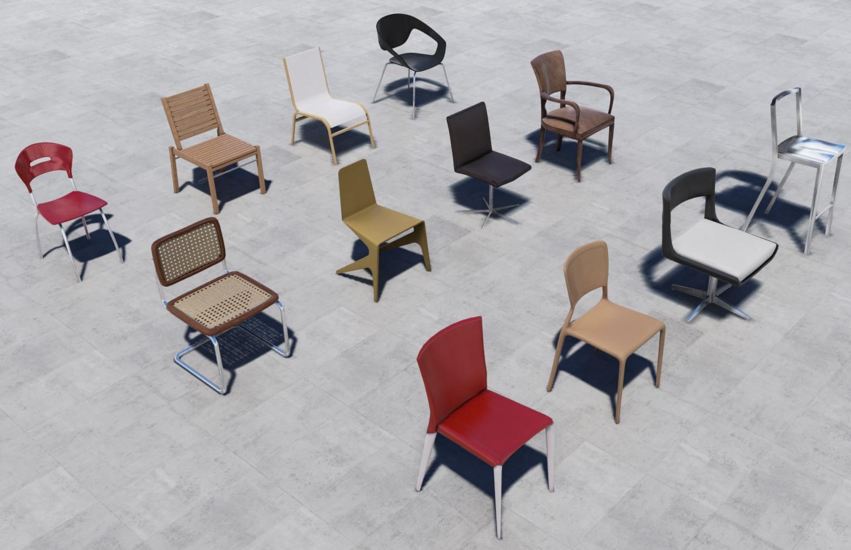 UE4Models Chairs Pack Vol 2