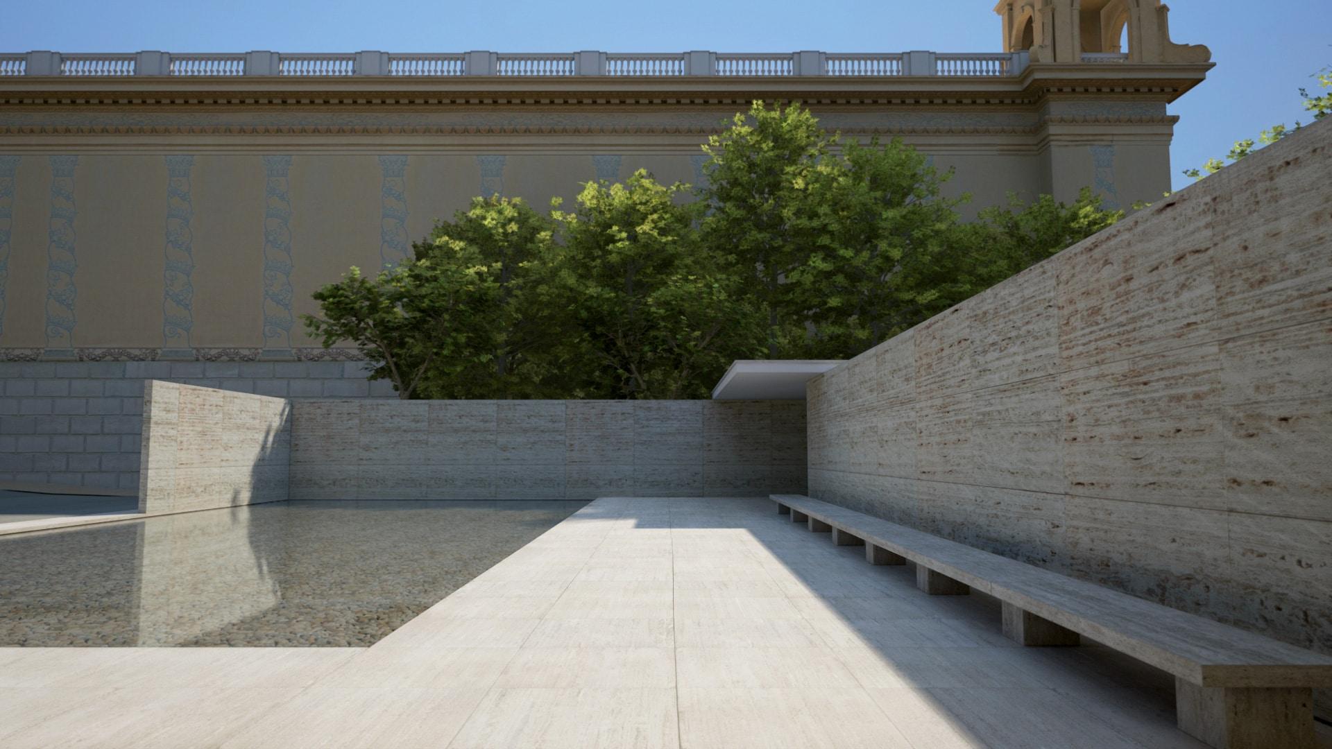 Barcelona pavillion ue4arch for Unreal engine 4 architecture
